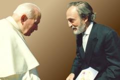 Treffen mit Papst Johannes Paul II