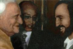 In Neu-Delhi mit dem indischen Präsidenten V.V. Giri (1987)