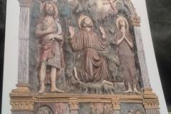 Kunst in Sargiano: Der Heilige Franziskus erhält das Stigma