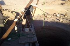 Graben eines Brunnens in St. Katherina (Sinai, Ägypten)